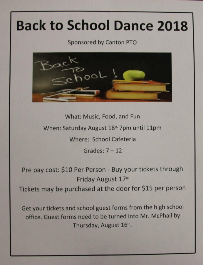 PTO to Host Back to School Dance 2018