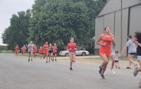 Running in the Fun Run