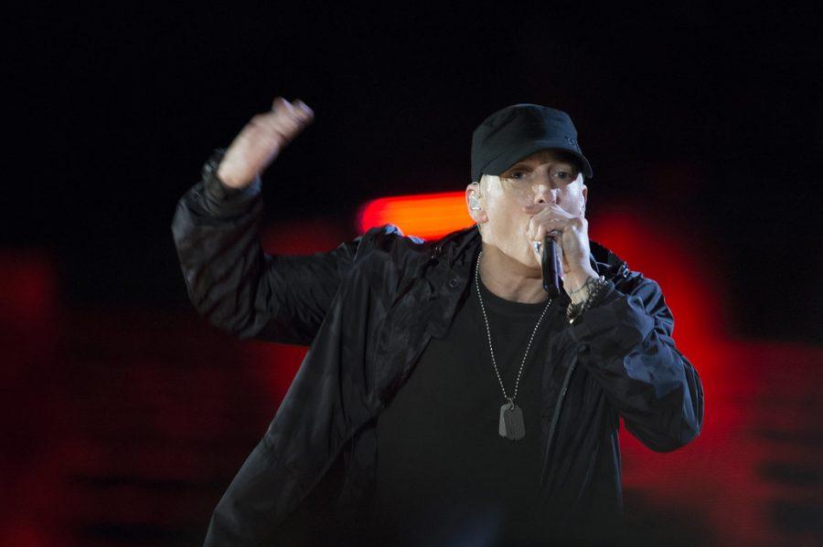 Eminem performs during The Concert for Valor in Washington, D.C. Nov. 11, 2014. DoD News photo by EJ Hersom
