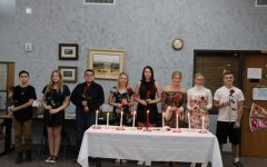 FCCLA initiates its new members.