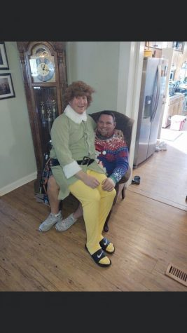 Buddy The Elf makes an appearance at the Nix house.