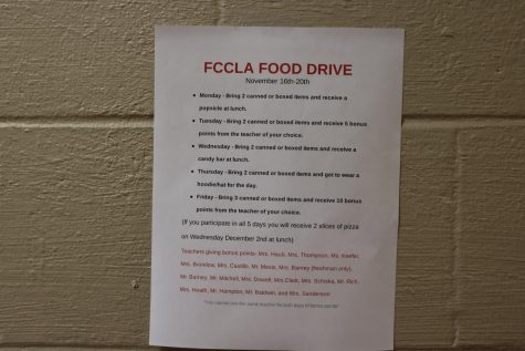 FCCLA Holds Annual Food Drive