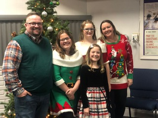The Grigsby family celebrates the holiday season.