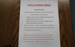 FCCLA Food Drive Rescheduled Due to COVID