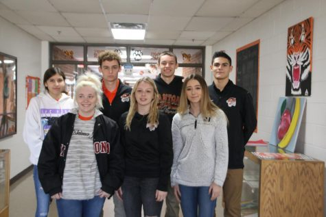 Front Row: Brianna Ross, Payton Lee, Taylor Dowell  Back Row: Arianna Green, Cody Conrady, Brooks Martin, Ethan Foster  Not Pictured: Trevor Ross and Laney Russell