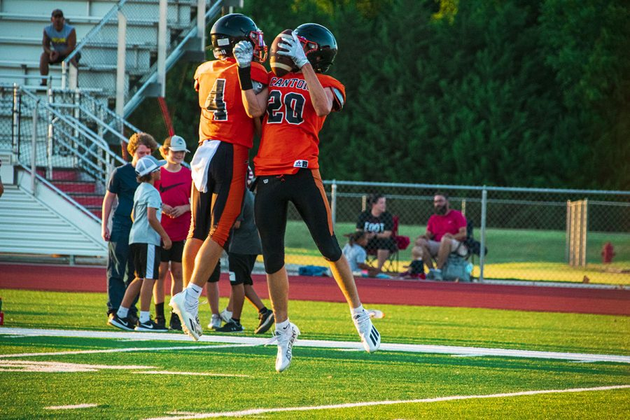 Canton Football Team Attends First Scrimmage of the Year