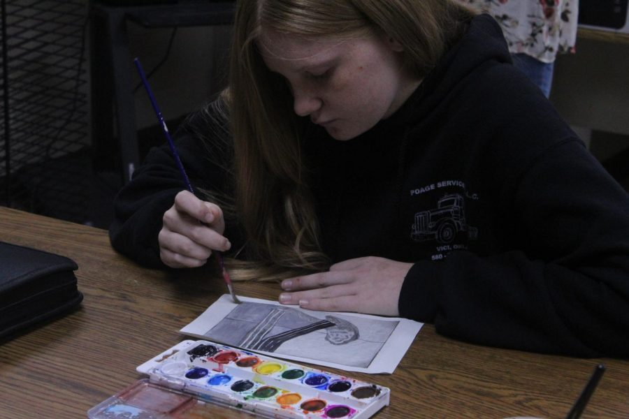CHS Art Students Explain Their Projects
