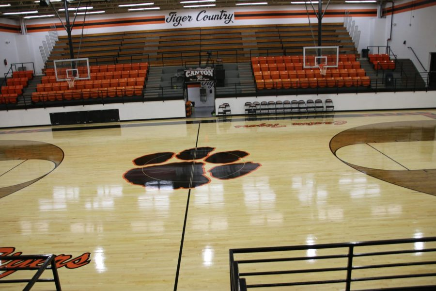 Lady Tigers are prepared to play on the new court.